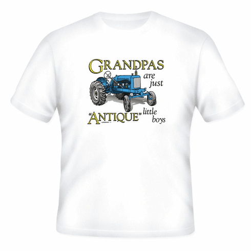 Family Grandpa Grandfather Grandpas are just Antique little tractors tshirt shirt