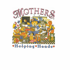Family Mom Mother Mommy Mother's helping hands teddy bears tshirt shirt