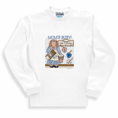 Family Mother Mommy Mom Mom's busy take a number 1 2 3 long sleeve tshirt sweatshirt