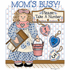 Family Mother Mommy Mom Mom's busy take a number 1 2 3 tshirt shirt