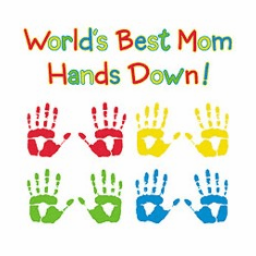 Family Mother World's best Mom hands down tshirt shirt