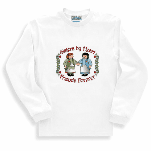 Family Sister Sisters by heart friends forever long sleeve tshirt sweatshirt