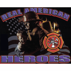 Firefighter Fire Fighter Fireman Real American Hero shirt sayings
