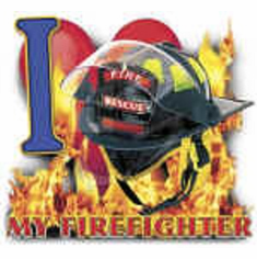 Firefighter fireman firemen shirt: I love my firefighter