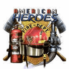 Firefighter fireman shirt American Heroes fire department