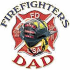 Firefighter fireman shirt:  FIREFIGHTERS DAD