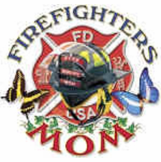 firefighter fireman shirt: FIREFIGHTERS MOM