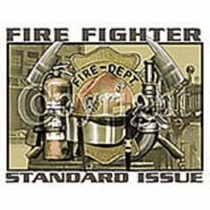 Firefighter fireman T-shirt: Standard issue
