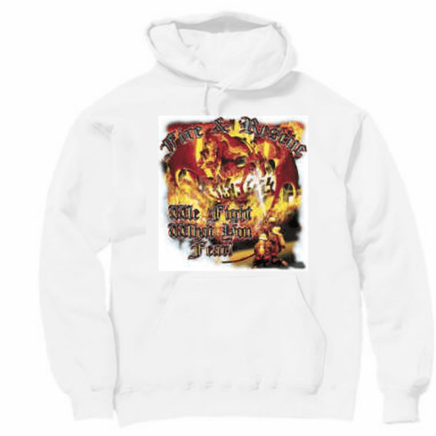 firefighter pullover hoodie hooded sweatshirt: Fire and rescue. We fight what you fear.