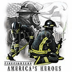 Firefighters america's heroes shirts