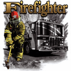 Fireman, fire truck, firefighter t-shirt
