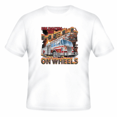 Fireman T-shirt: Todays firefighters are hell on wheels