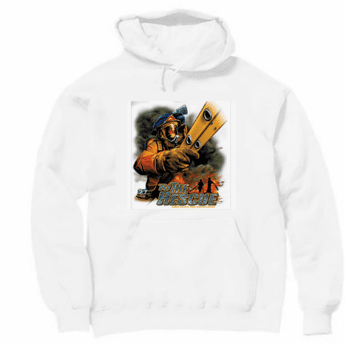 Firemen Firefighter pullover hoodie hooded sweatshirt: To the rescue