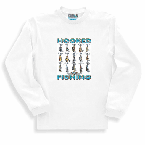 Fishing Sweatshirt or long sleeve T-shirt: Hooked on Fishing