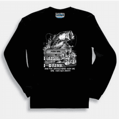 Fishing sweatshirt or long sleeve t-shirt:  I fish therefore I drink and you should have seen the one that got away