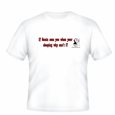 Funny Christmas: If Santa sees you when you're sleeping why can't I? t-shirt
