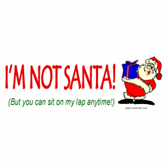 Funny Christmas shirt I'm not Santa but you can sit on my lap anytime