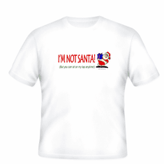 Funny Christmas T-shirt I'm not Santa but you can sit on my lap anytime