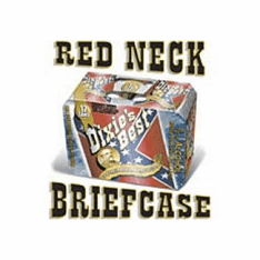funny drinking confederate southern shirt RED NECK redneck Briefcase 12 pack beer