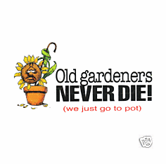 funny novelty garden shirt Old gardners never die they just go to pot