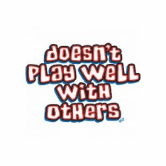 funny novelty shirt DOESN'T does not play well with others