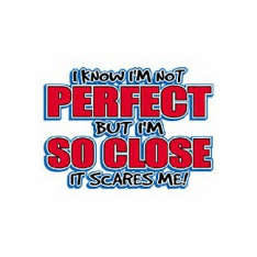 funny novelty shirt I know I'm not perfect but I'm so close it scares me