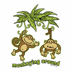 funny novelty shirt MONKEYING AROUND monkey