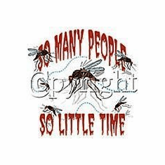Funny novelty shirt So many people so little time mosquito