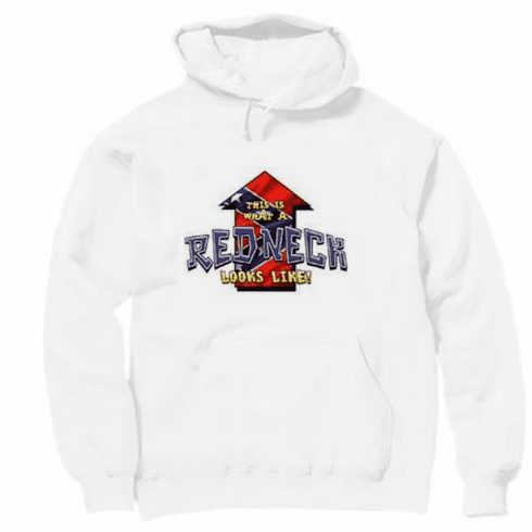 Funny novelty shirt This is what a REDNECK looks like confederate flag pullover hooded hoodie sweatshirt