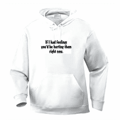 Funny one-liner t-shirt sayings hoodie hooded sweatshirt If I had feelings you would be hurting them right now