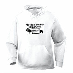 Funny one-liner t-shirt sayings hoodie hooded sweatshirt My dog ate my homework