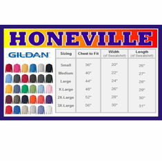 Gildan Sweatshirt size and color chart