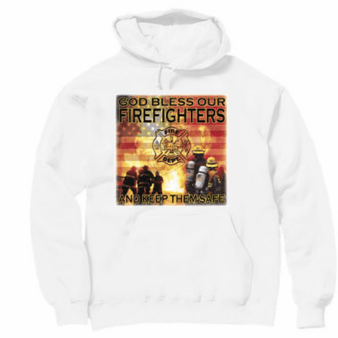God Bless the Firefighters and keep them safe. Fireman Pullover hoodie hooded Sweatshirt