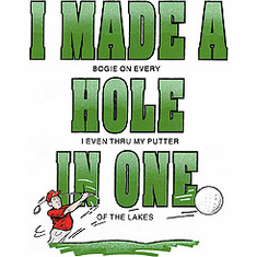 Golf, Golfing shirt: I MADE A HOLE IN ONE
