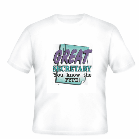 Great Secretary you know the TYPE t-shirt shirt