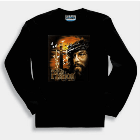 His passion for our sins Jesus Christ Cross christian Sweatshirt or long sleeve T-shirt