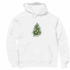 Holiday Christmas Angel Tree hoodie hooded sweatshirt