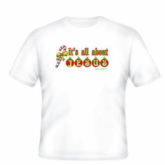 Holiday Christmas t-shirt sayings tshirt shirt It's all about Jesus