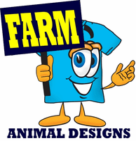 HoneVille's animal designs farm animals horse cow pig chicken