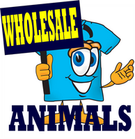 HoneVille Wholesale 6 packs of Animal T-shirts Cat Dog Horse Fish Birds Bear Nature
