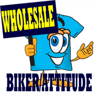HoneVille Wholesale  6 packs of Biker Rebel Attitude Goth Shirts