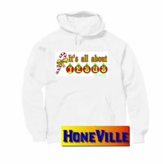 hoodie:  Christmas.  It's all about Jesus