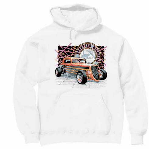 Hot rod car truck hoodie hooded Sweatshirt  BACKYARD MECHANICS