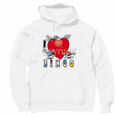 I love bingo pullover hooded hoodie sweatshirt