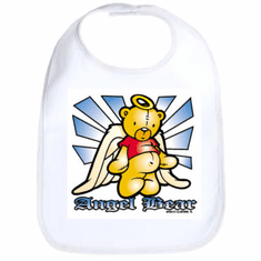 Infant baby bib Angel Bear