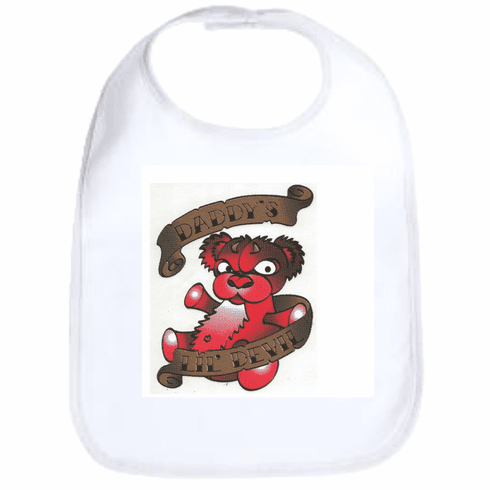 Infant baby bib Daddy's lil devil