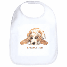 Infant baby bib puppy dog doggy I need a hug