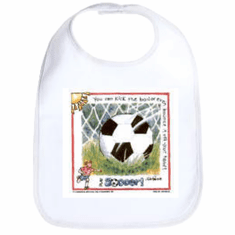 Infant baby bib Soccer ball sport