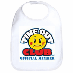 Infant baby bib Time Out Club Official Member