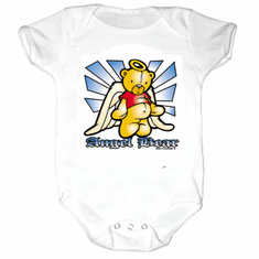 Infant baby toddler Creeper sleeper body suit one piece Angel Bear